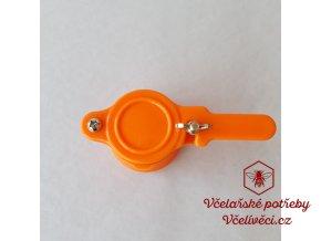 Plastový kohout oranžový