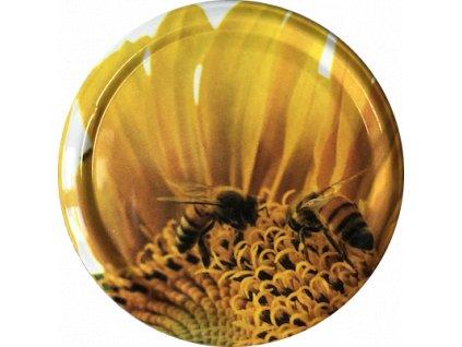 2 včelky na slunečnici