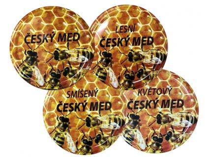 Víčko včelky na plástu - Český med TO82 MIX