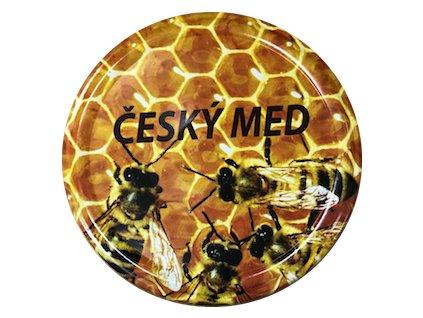 Víčko včelky na plástu Český med TO82