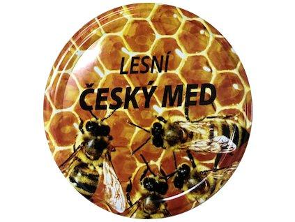 Víčko včelky na plástu Český med lesní TO82