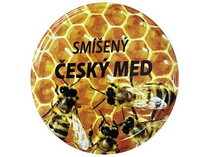 Víčko včelky na plástu Český med smíšený TO82