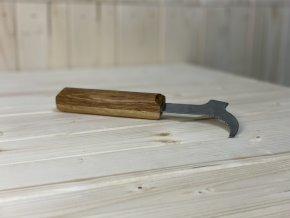 Rozpěrák zahnutý pr. nástřik s dřevěnou rukojetí