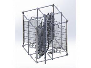4 rámkový nerezový zvratný automatický medomet skladem