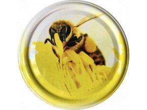 Včelka na žlutém květu 1