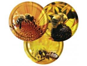 Víčko včelka na žlutém květu TO82 MIX