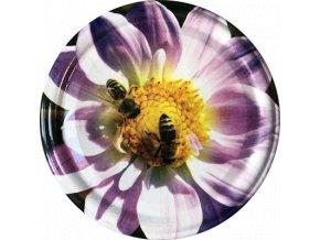 Včelka na fialovém květu