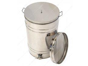 Stáčecí nerezová nádoba s nerezovým výpustním kohoutem 150l