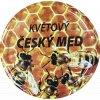 Víčko včelky na plástu Český med květový TO82