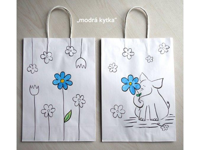 Bílá malovaná taška