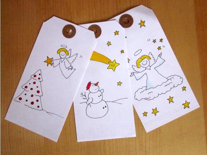Dárkové visačky vánoční
