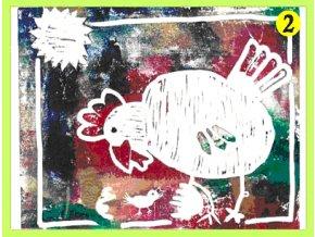 Velikonoční pohlednice Slepice