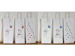 Vánoční taška na víno