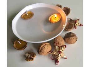 Plovoucí svíčka skořápka medová