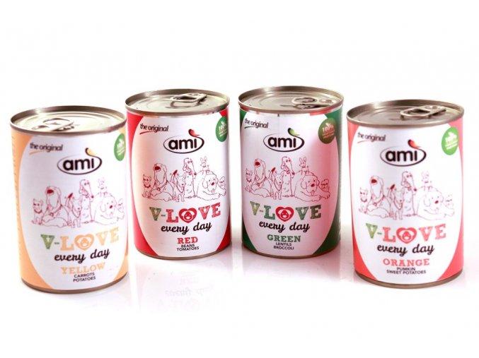 Ami Dog Love Every Day konzerva 400g veganske krmivo pro psy