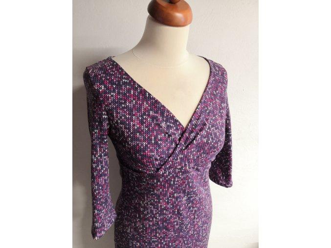 (ne)kojící šaty - pletený vzor fialová vel. 36/38
