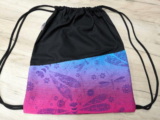 Batoh obyčejný černá + vážky 2