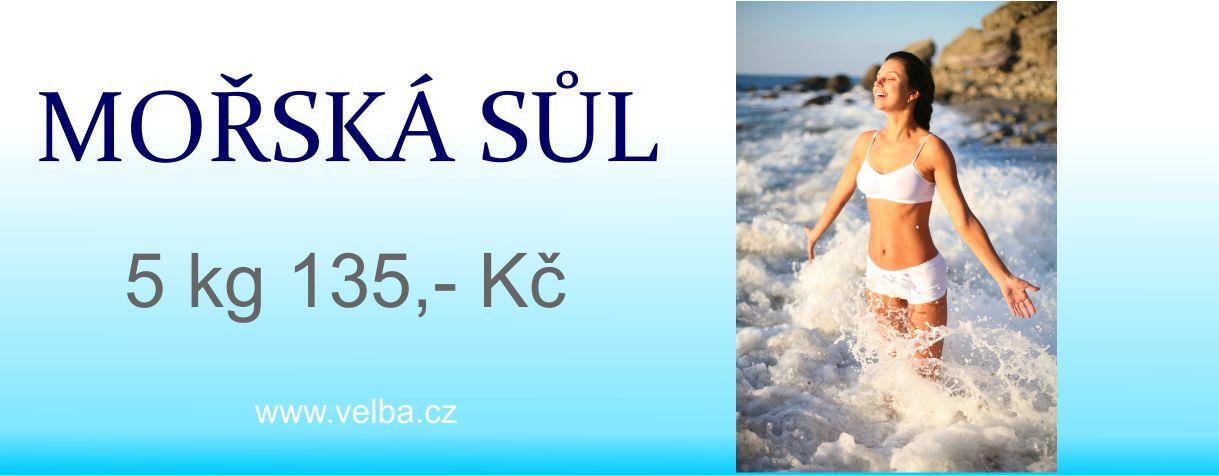 Mořská sůl Velba 5 kg
