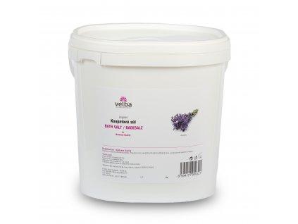 Velba koupelová sůl levandule 5 kg,  MAXI hrubozrnná 1,6 - 6,3 mm