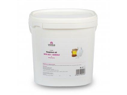 Velba koupelová sůl medové mléko 5 kg, MAXI hrubozrnná 1,6 - 6,3 mm