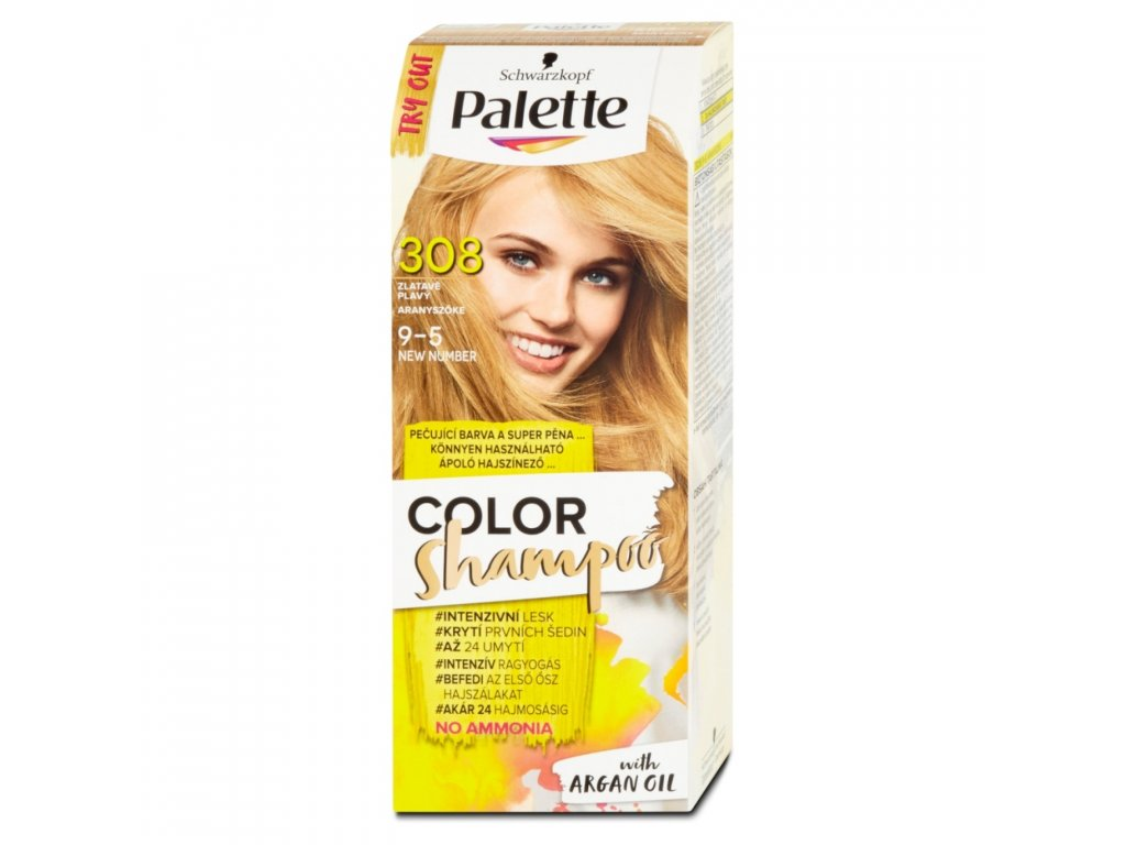 Palette Color Shampoo 308 zlatavě plavý, 50 ml