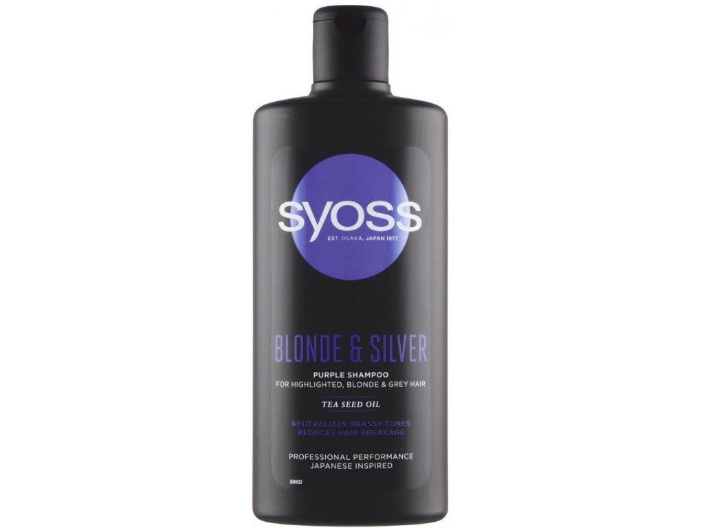 Syoss Blonde & Silver šampon neutralizující žluté tóny 500 ml