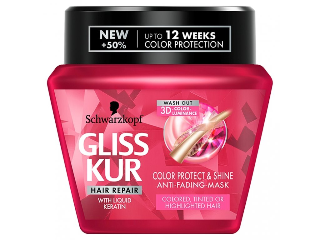 Gliss Kur maska Ultimate Color, 300 ml