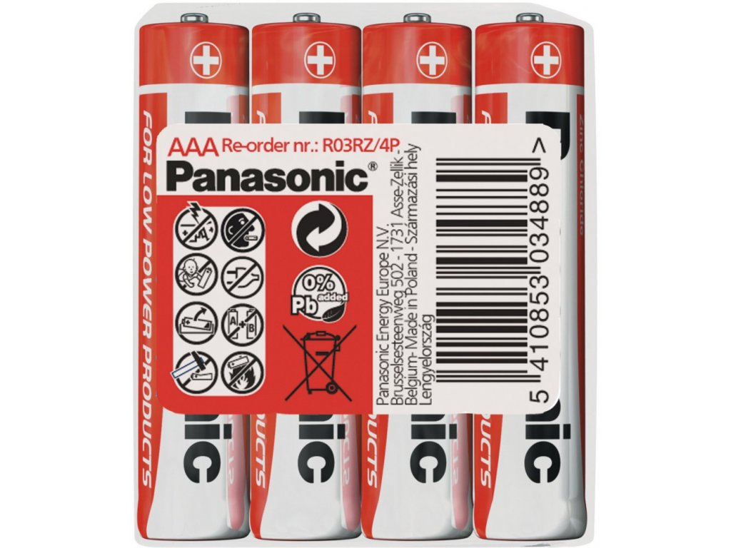 Panasonic Zinc(shrink) AAA/4, 4ks