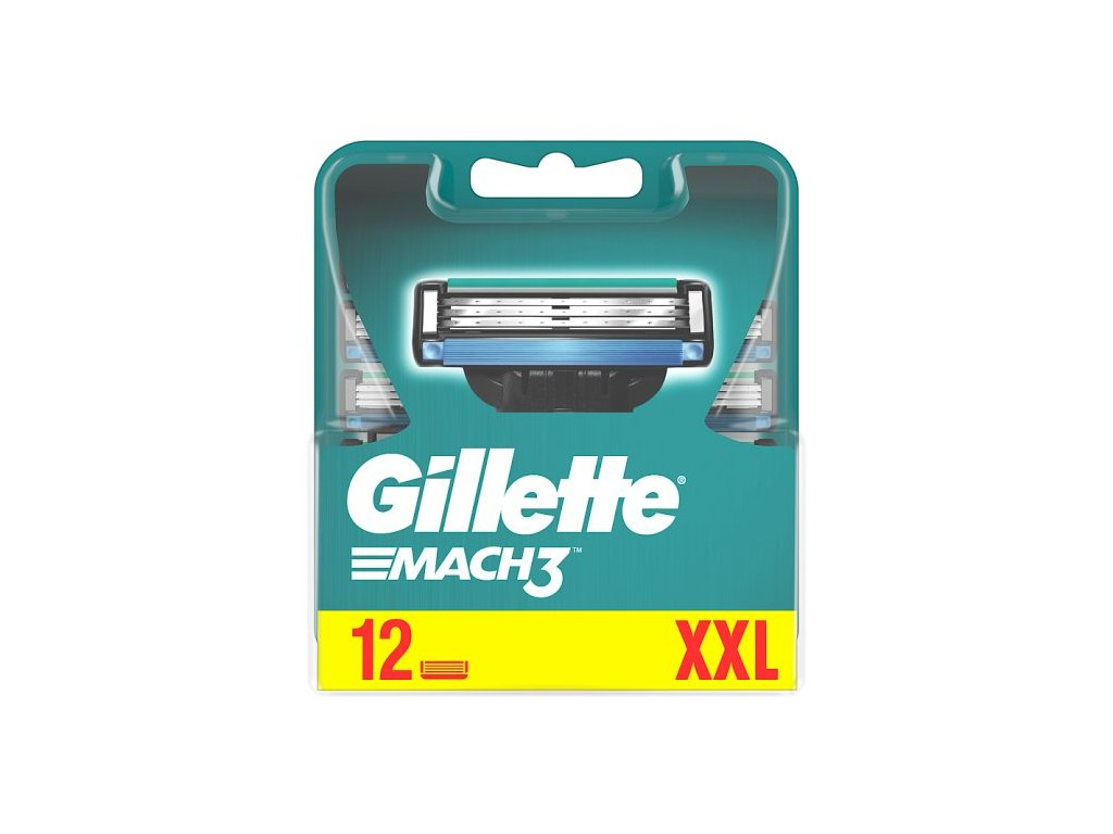 Gillette Mach3 náhradní břity 12 ks