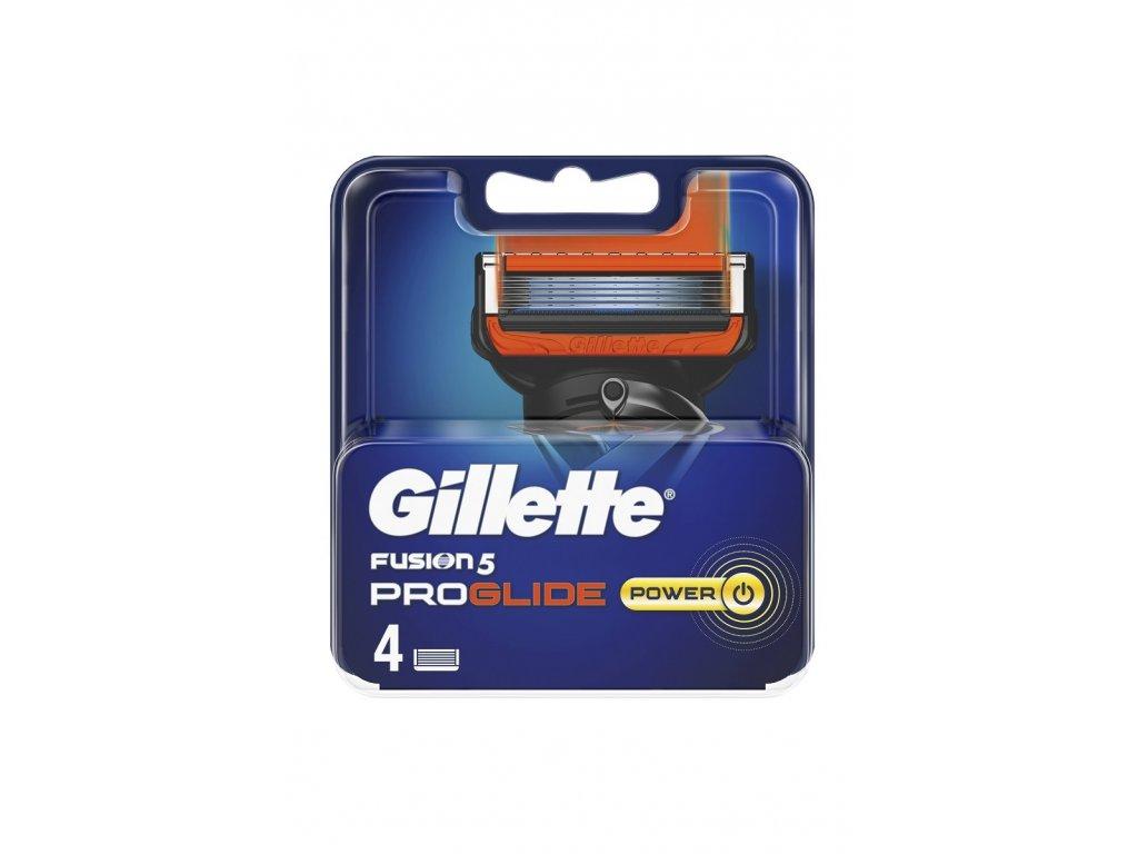 Gillette Fusion5 Proglide Power náhradní břity 4 ks