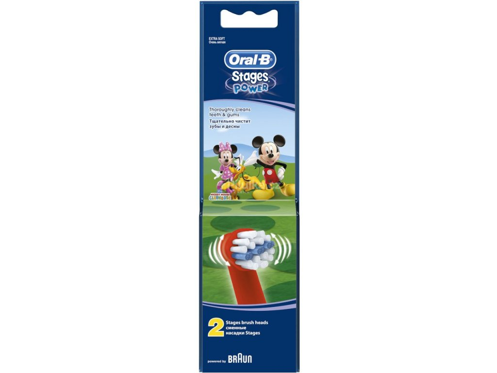 Oral B Kids Stages Power Mickey Mouse - náhradní hlavice 2 ks
