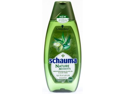 Schauma šampon Nature Moments oliva a aloe, 400 ml