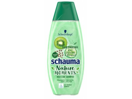 Schauma šampon Nature Moments kiwi a okurka, 400 ml