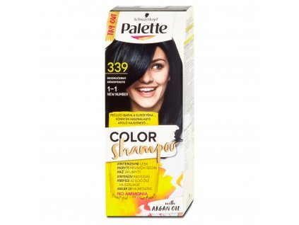 Palette Color Shampoo 339 modročerný, 50 ml