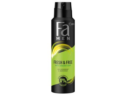 Fa deosprej Men Fresh & Free Mint & Bergamot, 150 ml