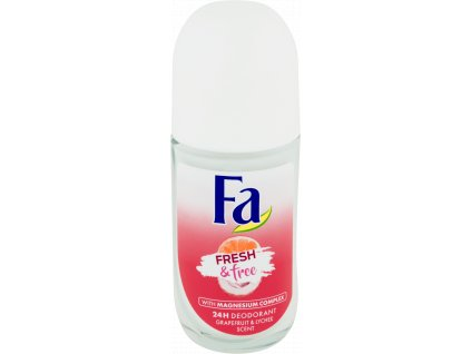 Fa roll-on Fresh & Free Grapefruit & Lychee, 50 ml