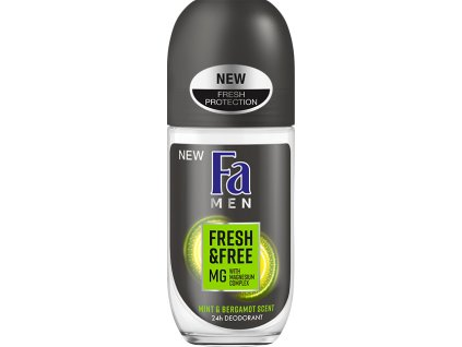 Fa roll-on Men Fresh & Free Mint & Bergamot, 50 ml
