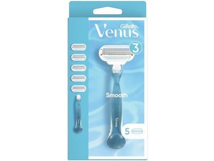 Gillette Venus Smooth holicí strojek + náhradní břity 5 ks