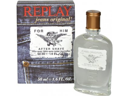 Replay Jeans Original For Him voda po holení, 50 ml