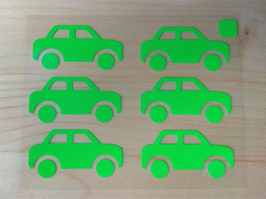 Neonove nazehlovaci obrazky auticka zelena