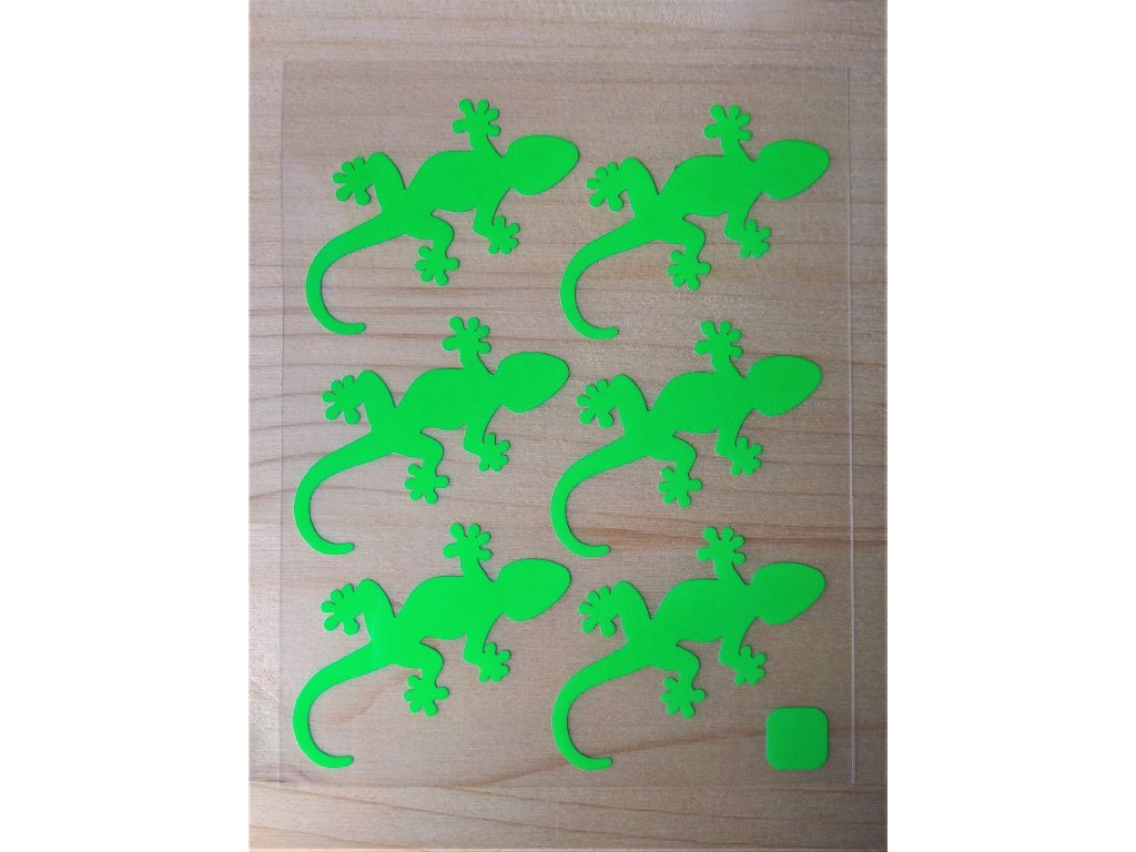 Neonove nazehlovaci obrazky jesterky zelene