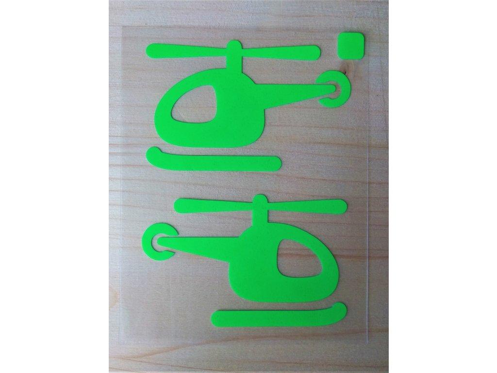 Neonove nazehlovaci obrazky vrtulniky zelene