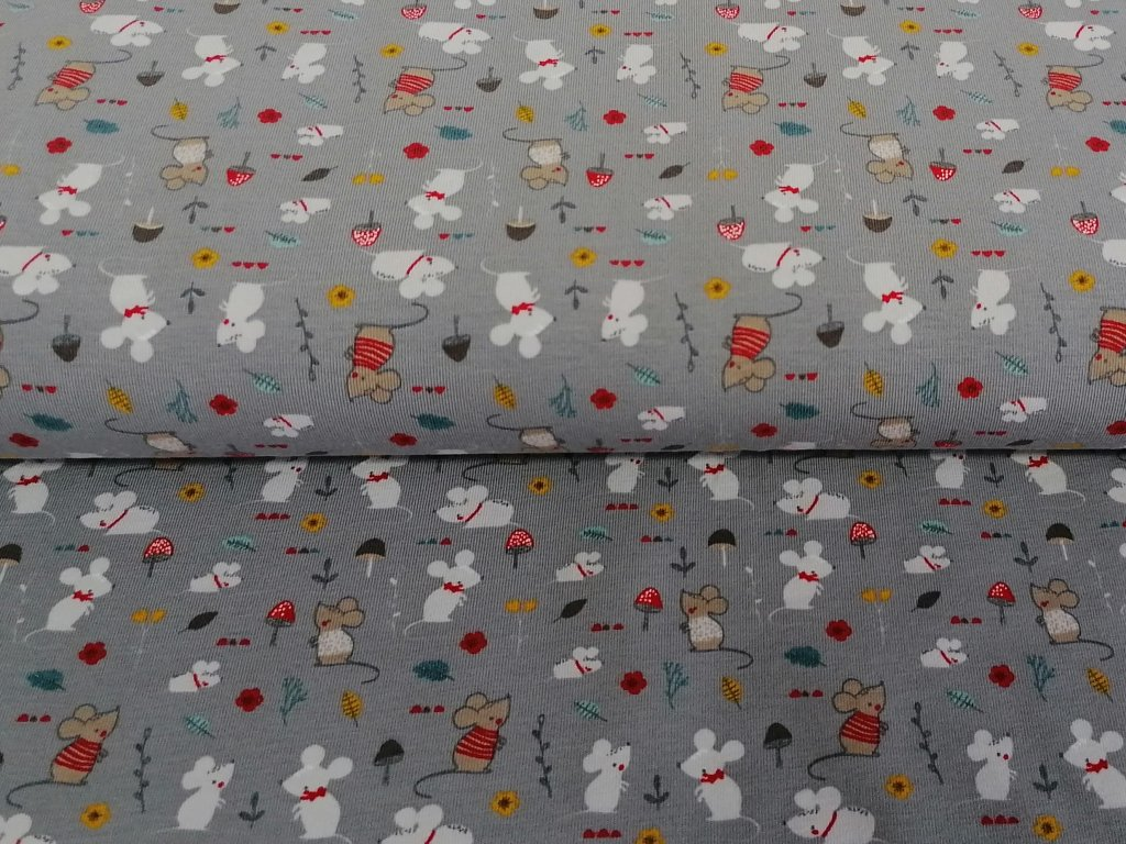 myšky na šedé