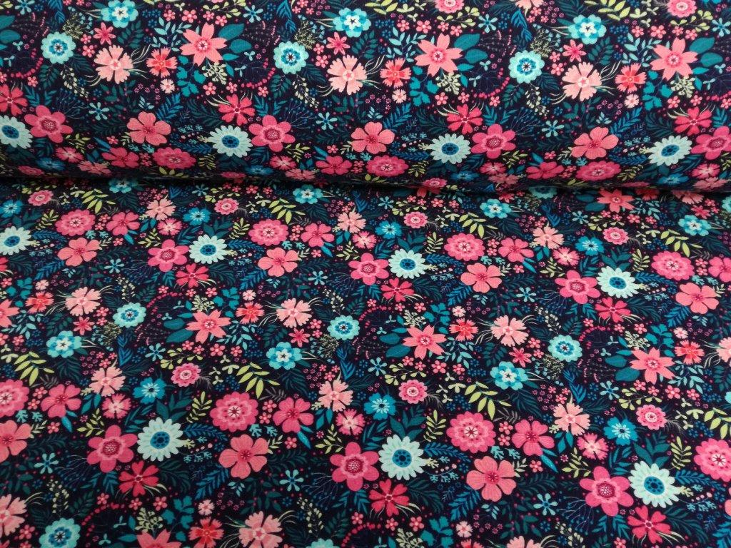 růžové&tyrkysové květinky (1)