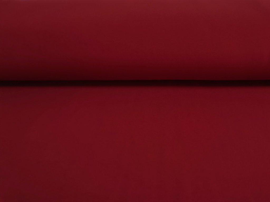 Bavlněný úplet s elastanem MATNĚ ČERVENÝ 200/m2  5m