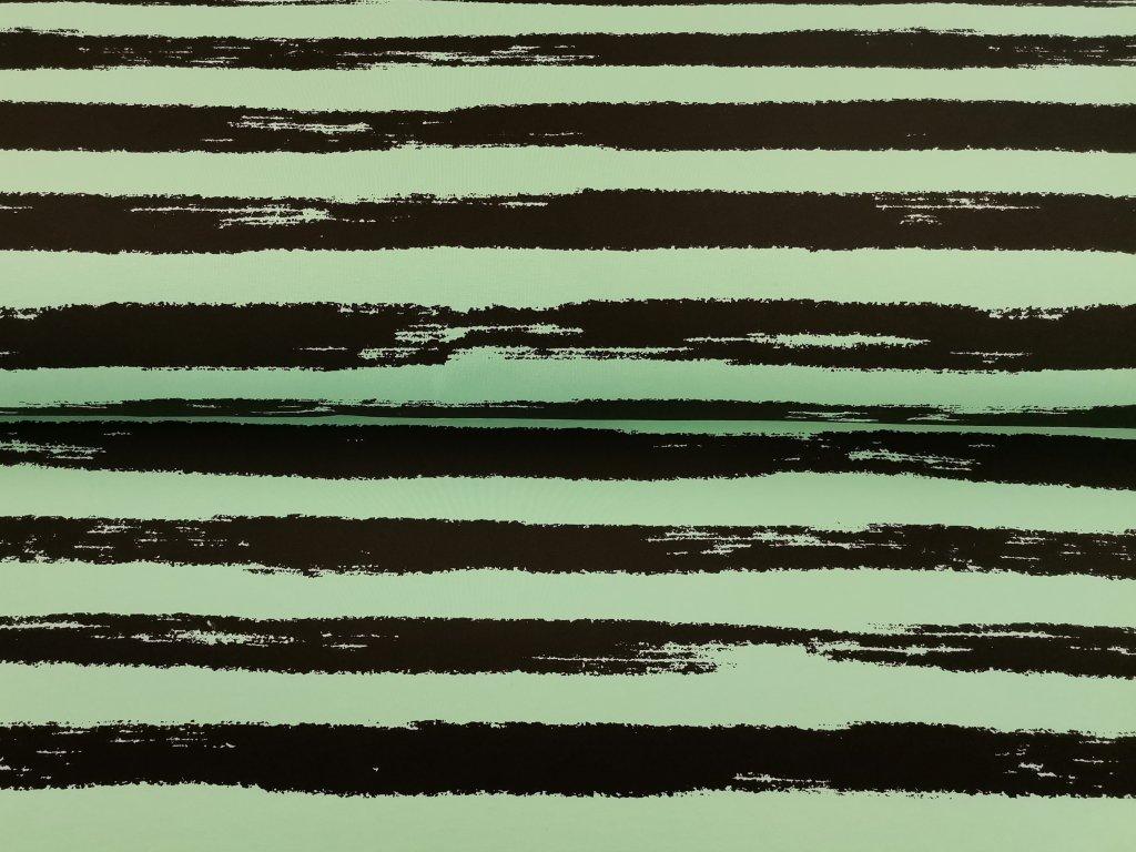 černé proužky na zeleném mentolu