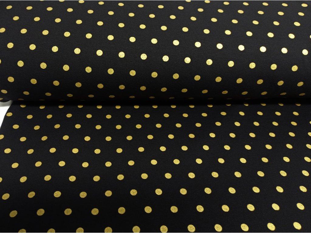 zlaté puntíky na černé