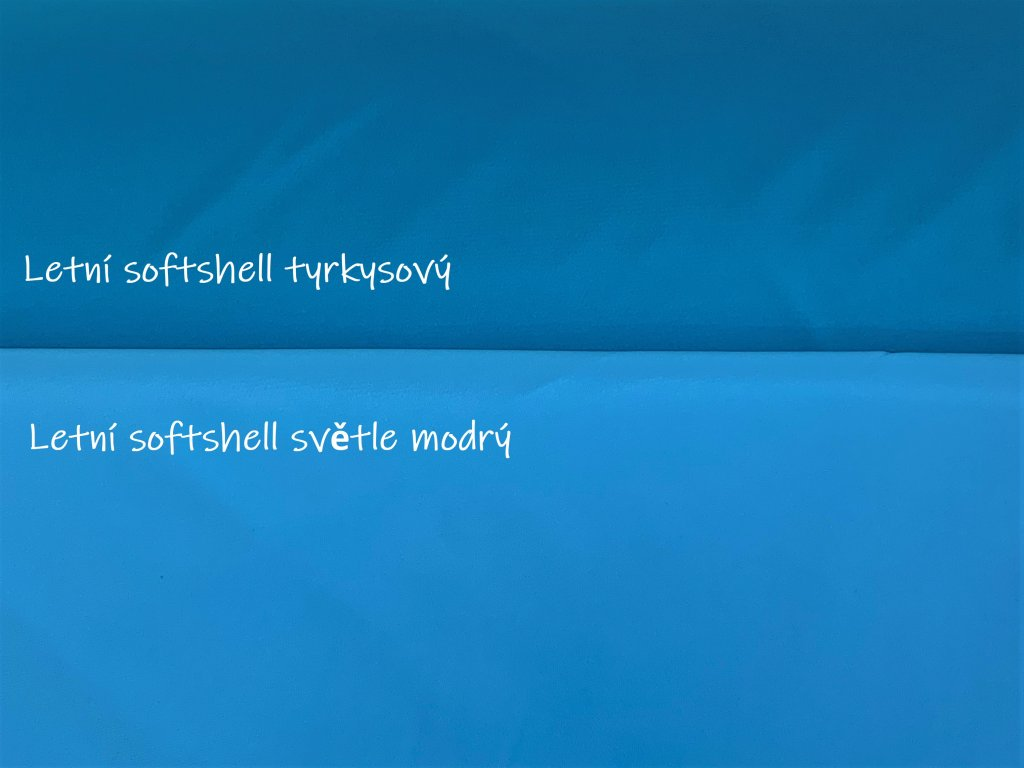 Letní softshell Tyrkysový 5m