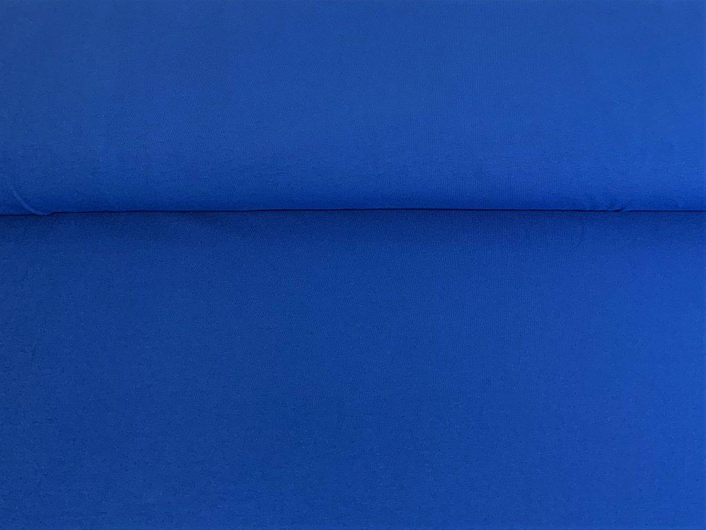 Bavlněný úplet s elastanem MODRÝ 200/m2 5m