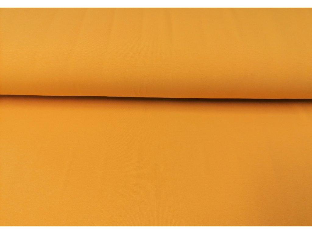 Bavlněný úplet s elastanem OKROVÝ 200/m2 5m